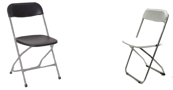White and Black Aluminum Chair