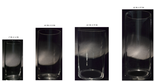 Cylinder Vases (Various Sizes)
