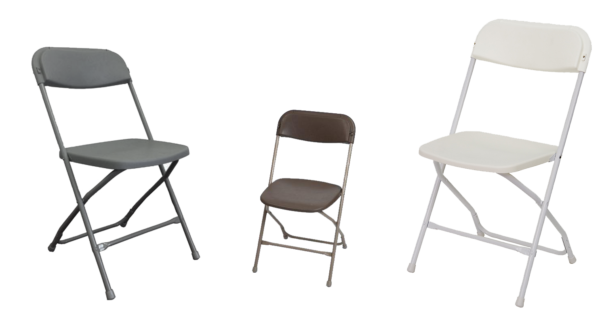 Gray Brown and White Steel Chair