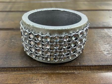 Napkin Ring: Silver Bling