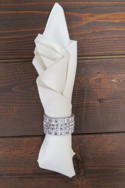 Silver Bling Napkin Ring