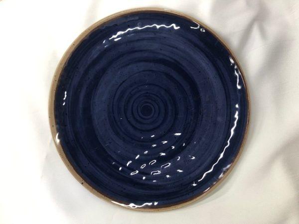 Navy Blue Melamine Plate