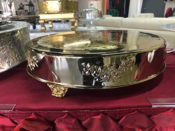 Shiny Gold Cake Stand