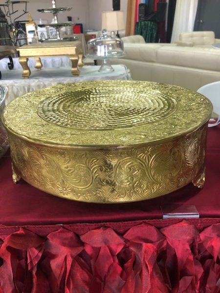 Antique Gold Cake Stand