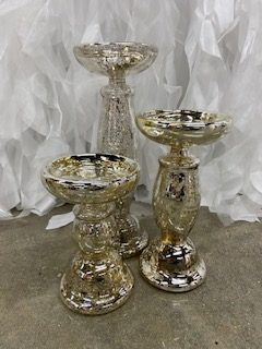 Mercury Candlesticks (Set of 3)