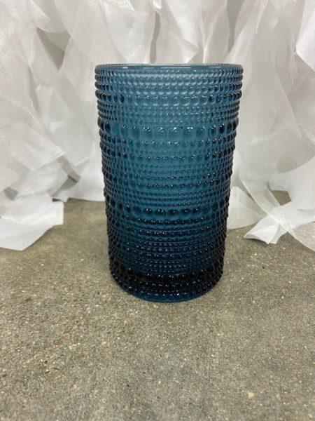 Navy Textured Glass