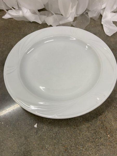 White Design Dinner Plate