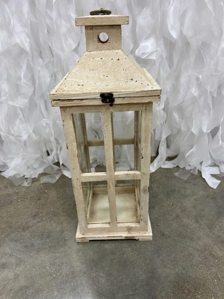 White Wood Lantern