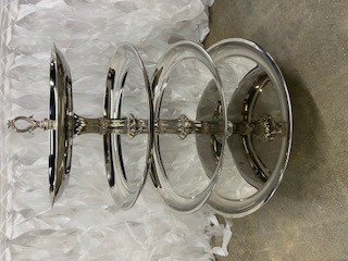 Silver 4 Tier Cupcake Stand