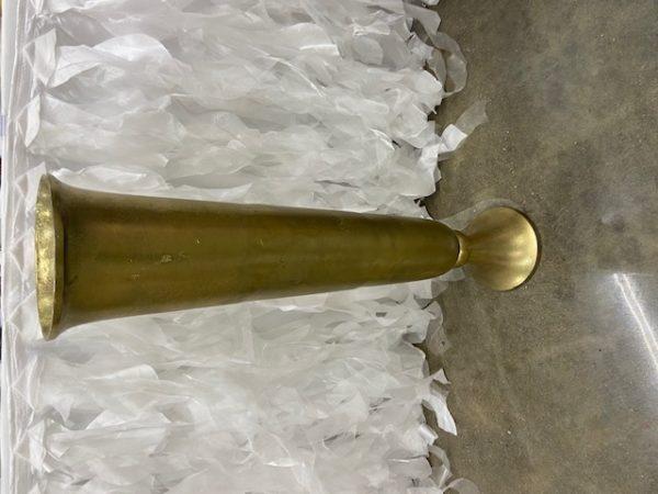 Milan Gold Trumpet Vase